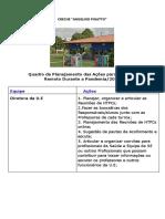 Quadro de ações para o Ensino Remoto , da Creche Angelino Pigatto