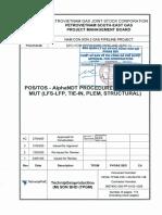 NCS2-TPGM-CW-1-00-02-PR-136_POS-TOS - AlphaNDT Procedure for RT, MT, MUT (LFS-LFP, Tie-in, PLEM, Structural)_AC_Approved.pdf