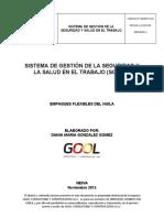 F-SGSST-010 SG-SST EMPAQUES FLEXIBLES DEL HUILA 2015