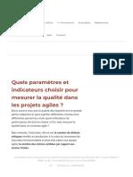 Comment mesurer la qualité logicielle dans les projets agiles _