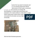 FreshWater Generator on Ships