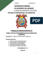 CORTE INTERAMERICANA DE DERECHOS HUMANOS (ULTIMO GRUPO DIA MARTES)