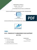 Forces et faiblesses de l'ECO par rapport au F CFA