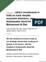 Saudi Arabia's investments in India on track despite economic downturn, says Ambassador Saud bin Mohammed Al Sati.pdf