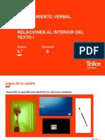 RV–4to – Relaciones al interior del texto (PPT)