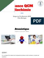 Séance de QCMs - Biochimie