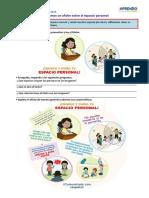 Leemos un afiche sobre el espacio personal - COMUNICACIÓN -MARTES 04 DE AGOSTO