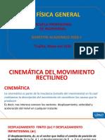 3ra clse  CINEMATICA - MRU  - MRUV