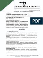 Programa Psicología General II - 343-17
