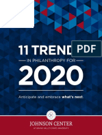Johnson Center (2019) 11 Trends in Philanthropy for 2020