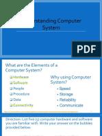 Understanding Computer and Operation