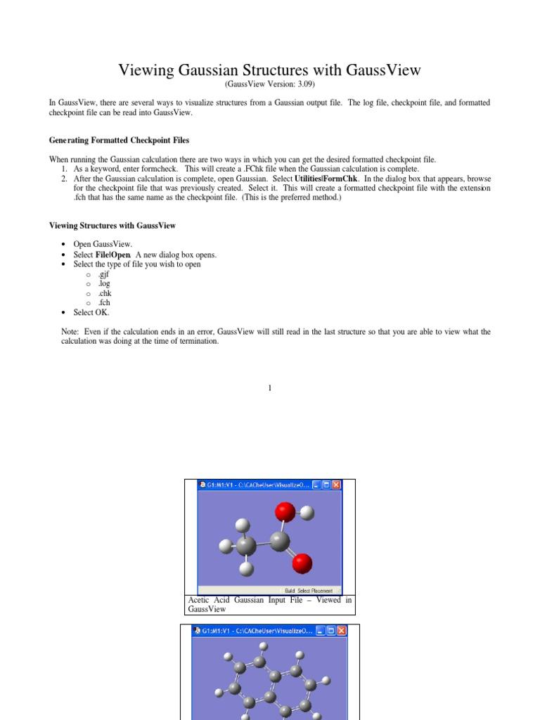 Viewing Gaussian Structures with GaussView   Molecular Orbital