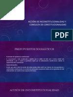 Acción de inconstitucionalidad y consulta de constitucionalidad