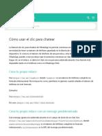 FAQ de WhatsApp - Cómo usar el clic para chatear
