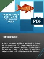Parametros a evaluar en agua para acuicultura