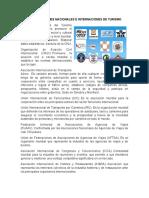 ORGANIZACIONES NACIONALES E INTERNACIONES DE TURISMO