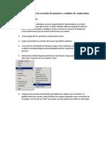 Procedimiento para la creación de usuarios y cambios de contraseñas