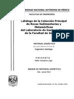 Catálogo de la Colección Principal de Rocas Sedimentarias y Metamórficas del Laboratorio de Geología Física de la Facultad de Ingeniería.pdf