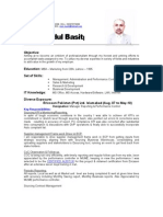 Baist's CV updated