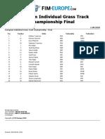 European Individual Grass Track Championship Final - Eu