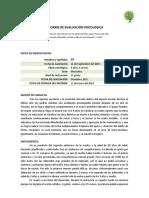 MODELO DE INFORME Evaluación Psicoloógica