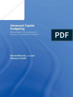Advanced Capital Budgeting  Refinements in the Economic Analysis of Investment Projects. by Smidt, Seymour Bierman, Jr. Harold (z-lib.org)