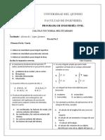 Parcial No 2. Cálculo Vectorial intersemestral.