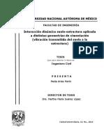 Arias, P. Interacción dinámica suelo-estructura aplicada a distintas geometrías de cimentación