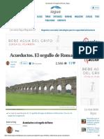 Acueductos. El orgullo de Roma _ iAgua