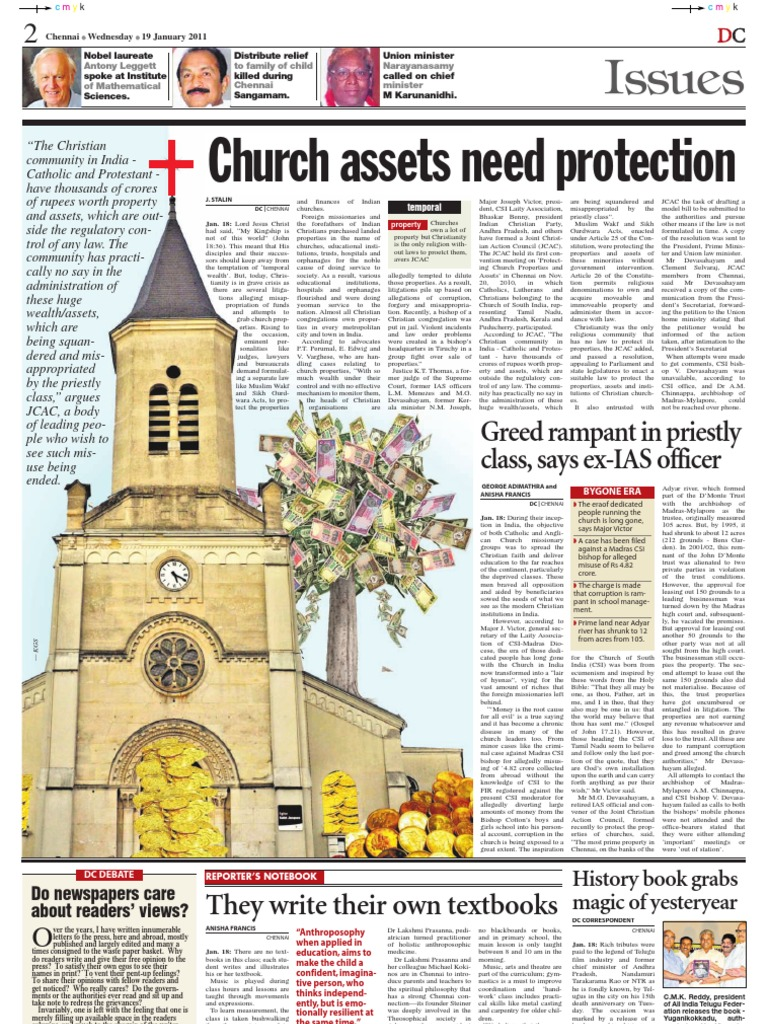 Christian Church Misappropriation of Funds and Properties