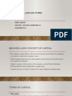 Capital and its types