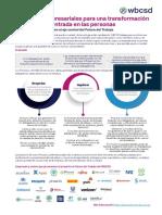 Principios empresariales para una transformación tecnológica centrada en las personas