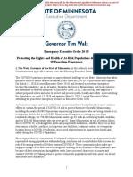 Gov. Tim Walz Executive Order 20-55