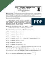 Trabajo Practico N°11 Álgebra y geometría analítica UTN FRLP