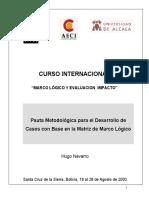 MARCO LOGICO Y EVALUACION IMPACTO-CEPAL
