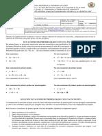 Actividad 1 - 2P - Matemáticas  901 y  902 -sede B J.T.
