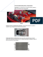 Sistema de Aire Acondicionado partes y componentes