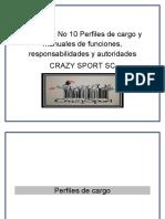 Perfiles de cargo y manuales de funciones CRAZY SPORT BORRADOR FORMATO