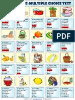 quantity quantifiers multiple choice test worksheet