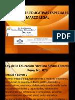 NECESIDADES EDUCATIVAS ESPECIALES marco legal