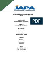 METODOLOGIA DE LA INVESTIGACION I TAREA I