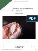 50 usos de la sal de mar que tal vez no conoces