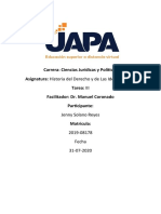 Tarea III de Historia del Derecho y de Las Ideas Politicas