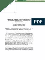 Aznar 2002 - La doctrina liberal de la libertad de expresión y sus límites