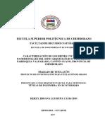 CARACTERIZACIÓN DE LOS BIENES CULTURALES PATRIMONIALES DEL SITIO ARQUEOLÓGICO VALPARAISO, PARROQUIA VALPARAISO, CANTÓN GUANO, PROVINCIA DE CHIMBORAZO.pdf