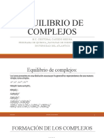 DIAPOSITIVAS EQUILIBRIO DE COMPLEJOS
