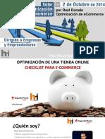 checklist optimizacion de ecommerce
