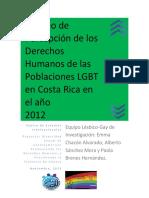 Sondeo de Percepción de los Derechos Humanos de las Poblaciones LGBT en Costa Rica 2012