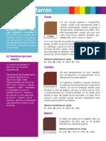Teoria del color - El color marrón