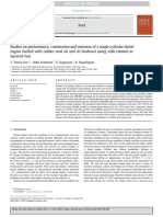 Studies on performance, combustion and emission of a single cylinder diesel engine fuelled with rubber seed oil and its biodiesel along with ethanol as injected fuel
